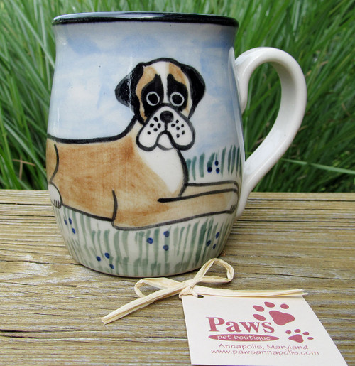 Hand-painted Boxer Mug made in USA