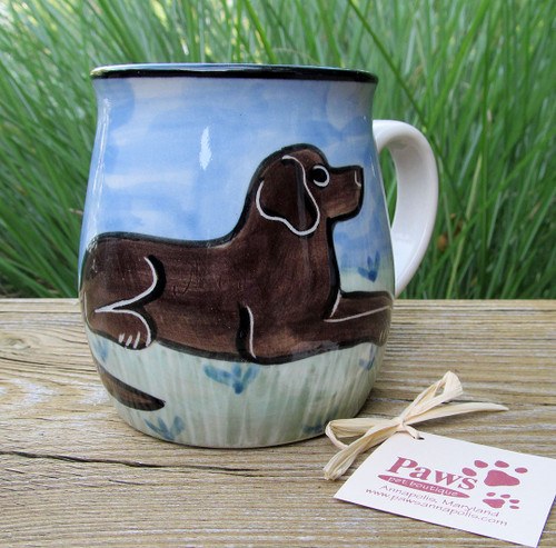 Chocolate Lab Mugs are Handmade in USA