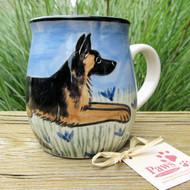 Hand-painted German Shepherd Mug
