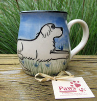 Hand-painted Great Pyrenees Mug
