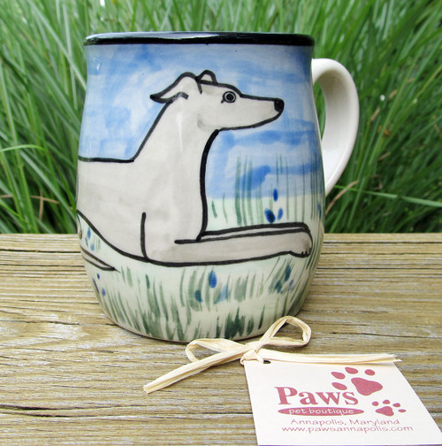 Hand-painted Greyhound Coffee Cups made in USA