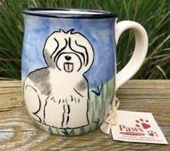 Hand-painted Old English Sheepdog Mug