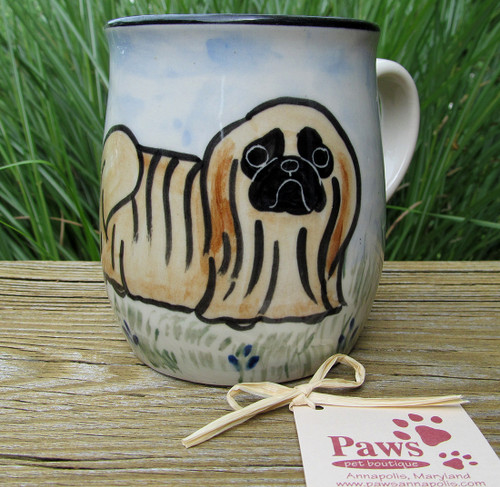 Hand-painted Pekingese Mug made in USA