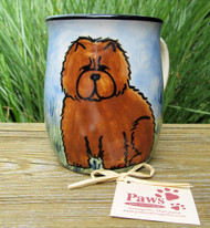 Hand-painted Red Chow Coffee Mugs