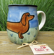 Hand-painted Red Dachshund Mug