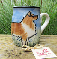 Hand-painted Sheltie Mug