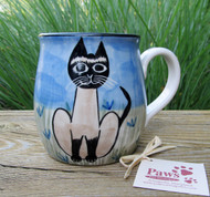 Hand-painted Siamese Cat Mug