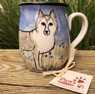 Hand-painted Husky Mug