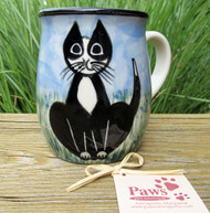 Black and White Tuxedo Handmade Mug