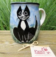 Black and White Tuxedo Handmade Mug