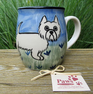 Hand-painted Westie Mug made in USA