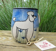 White Poodle Mugs are Hand-painted in USA