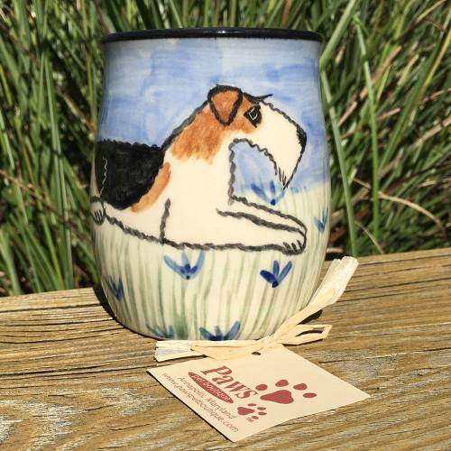 Hand-painted Wire Fox Terrier Mug