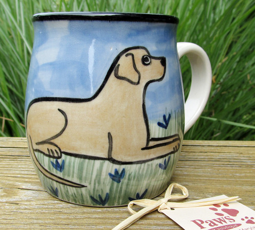 Handmade Yellow Lab Mugs!