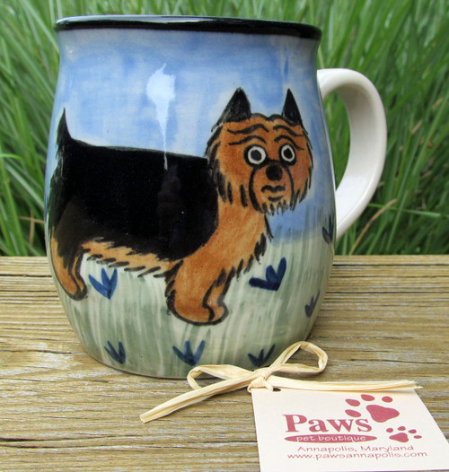 Whimsical Yorkshire Terrier Mug made in USA.