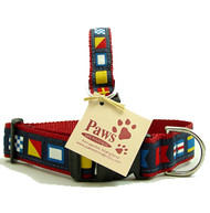 Nautical Flag Dog Collars made in U.S.