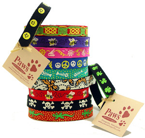 Colorful, lightweight and stretchy cat collars!