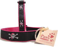 Pink Bandana Skull & Cross Bones Dog Collars