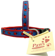 Tiny Dog Collars with Ladybugs Ribbon