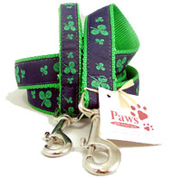 Classic Green Shamrock Dog Leashes made in USA