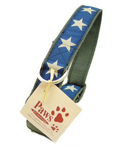 Blue Star Hemp Soft Dog Collar