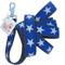 Navy Blue Star Hemp Dog Lead