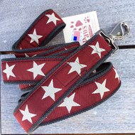 Cranberry Star Hemp Dog Leash made in USA