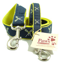 Navy and Gold Lacrosse Dog Leashes
