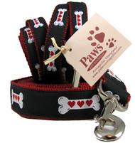 Hearts on Bones Dog Leashes