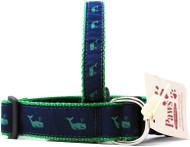 Green Whale Dog Collars