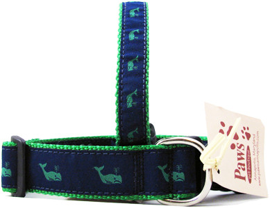 Green Whale Dog Collars