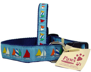Rainbow Fleet Sailboat Dog Collar