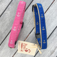 Anchor Nautical Cat Collars with Breakaway Buckles
