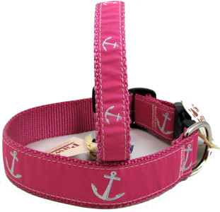 Custom Pet Collar Anchor Collar Dog Collar Summer Dog Collar Nautical Dog Collar  Anchors Away
