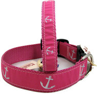 Pink Anchor Nautical Dog Collars