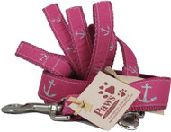 Pink Anchor Nautical Dog Leashes