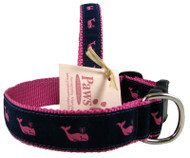Pink Whale Dog Collars