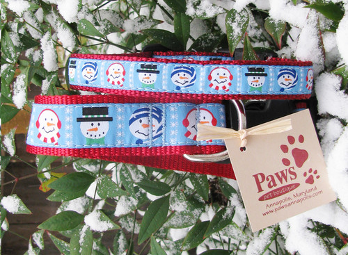 Winter Snowman Dog Collars