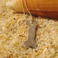 Silver Dog Bone Charms