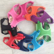 Soft Mesh Dog Harnesses in a variety of colors.