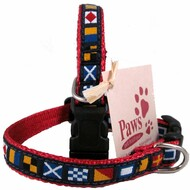 Tiny Nautical Flag Dog Collars for your seaworthy little ones.