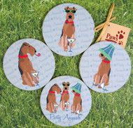 Airedale Terrier Coasters that share a smile!