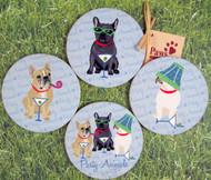 French Bulldog Coasters to make you smile!