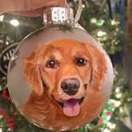 Golden Retriever Painted Christmas Ball