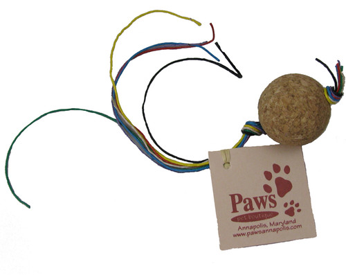 Cork Ball Toy with Hemp Twine