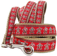 Gingerbread Dog Leash for Holidays