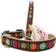 Bold Floral Dog Collars made in USA!