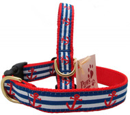 Bold and bright, our Red Anchor Striped Dog Collars are made in USA and look great on all dogs!