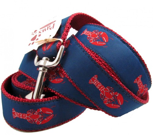 "Red Lobster Dog Leashes in 1.25"" width"
