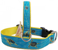Swimming Sea Turtle Dog Collars made in USA